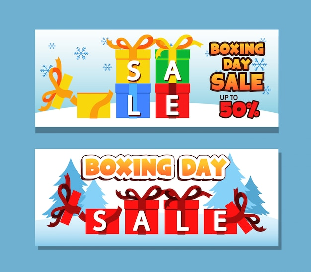Vector banner for boxing day promotion