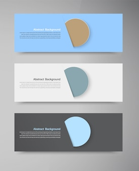 Vector banner color circles