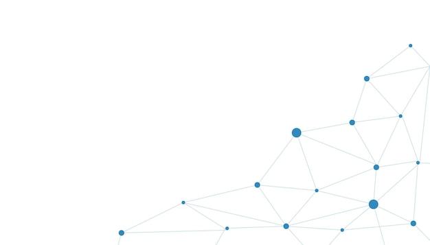 Векторный дизайн баннера, технология иллюстрации с геометрическим рисунком на синем фоне. современная высокотехнологичная концепция цифровых технологий. абстрактное интернет-общение, будущее науки и техники