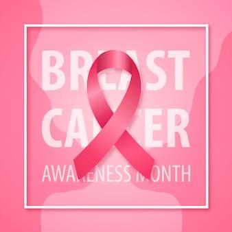 Векторный баннер для кампании месяца осведомленности рака молочной железы.
