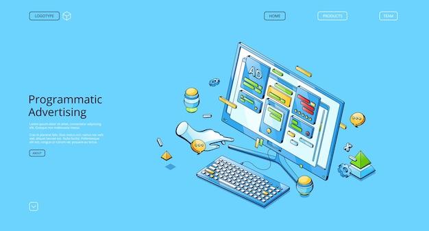 Banner vettoriale di pubblicità programmatica