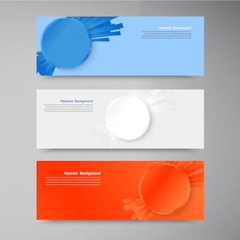 Vector banner set . colorful circle.