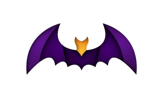 折り紙スタイルのベクトルコウモリのイラスト