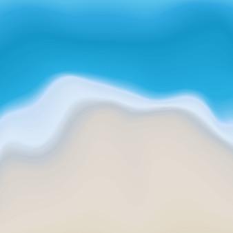 ベクトルビーチ砂と水抽象的な絵画の背景