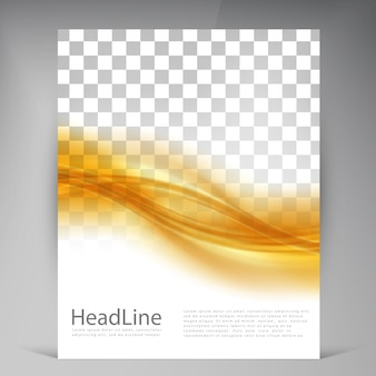 Vector Beautiful Gold Satin Flyer