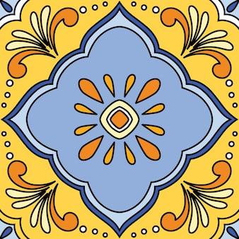 ベクトルの美しいシームレスな装飾タイルの背景。