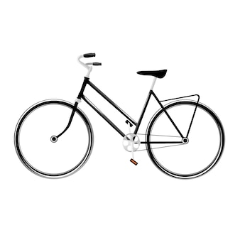 Vector bicycle in vintage style isolated on white background, vector illustration