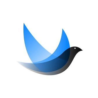 グラデーションスタイルのベクトル鳥。デジタルアート