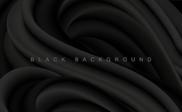 Vector black abstract artistic background for design