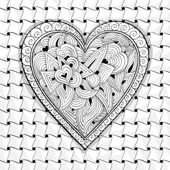 黒と白のハートのパターンをベクトルします。