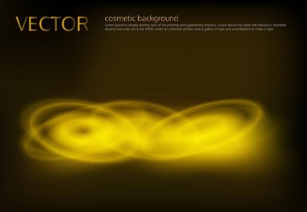 Vector sfondo nero con paillettes dorati