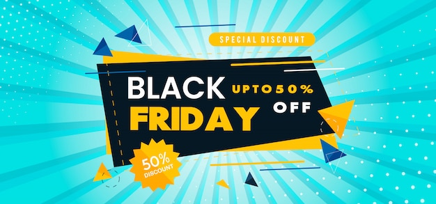 Vector black friday banner