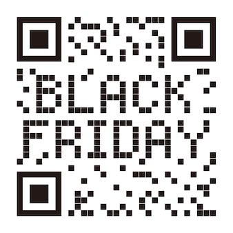 Vector black friday qr code con logo black friday isolato su sfondo bianco
