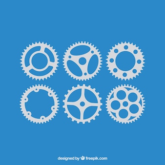 Vector black gears icons set