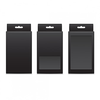Vector black package for software, electronic device and other products