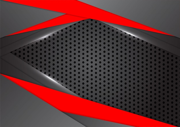 Vector black and red triangle is overlap abstract background