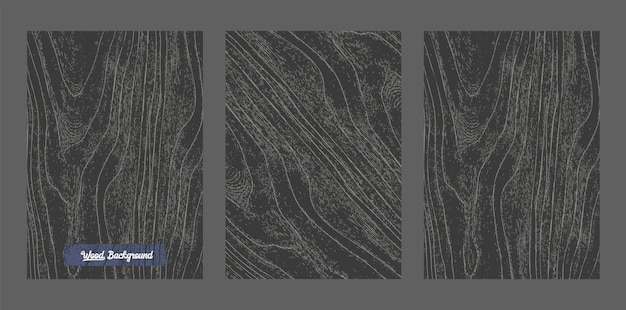 Vector black wood background and texture