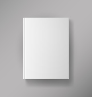 Vector blank book cover isolated on white