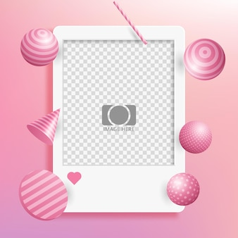 Vector blank photo frames with empty space for your image