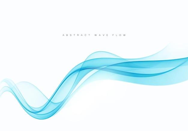 Вектор синий цвет абстрактный элемент дизайна волны