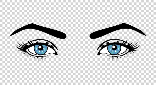 Vector blue female eyes