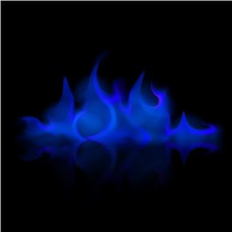 Вектор синий огонь пламя костра