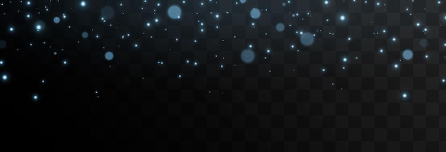 Vector blue light particles fall from the sky magic dust glare png magic glow blue light stars