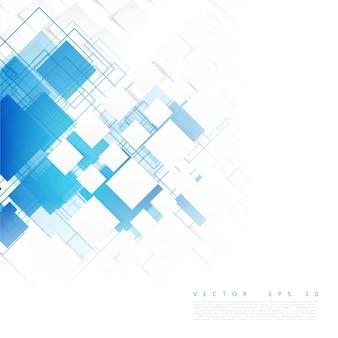 ベクトルの青い四角。抽象的な背景。