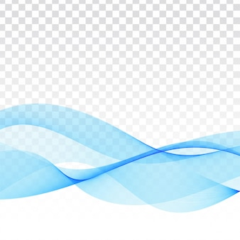 Vector blue wave transparent modern background