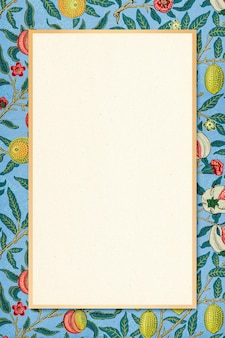 Vector bohemian botanical frame william morris