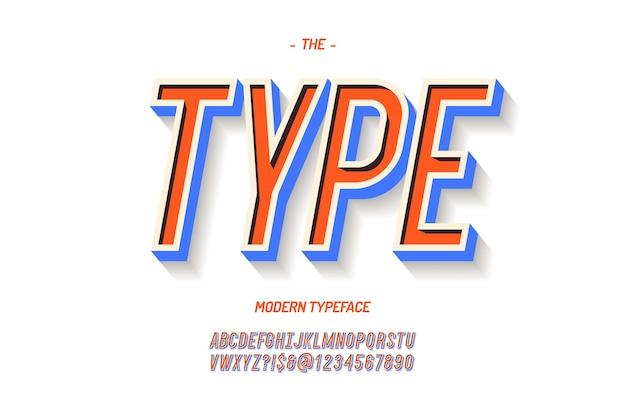 ベクトル太字フォントカラフルなスタイル。