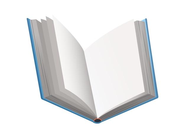 ベクトルの本。学習または教育の概念。空の本やノートのデザイン