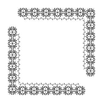 프레임 메뉴 청첩장 디지털 gr의 디자인에 대 한 꽃 패턴 벡터 테두리