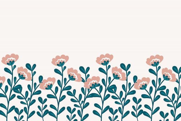 Vector botanical background