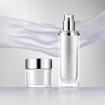 Vector bottle cosmetic mock up