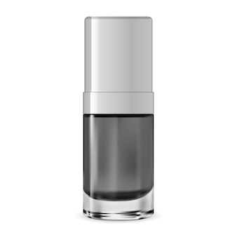 Vector bottle. cosmetic serum container. essence