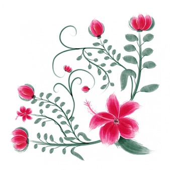 Vector bouquet card special occasion creative watercolor flower