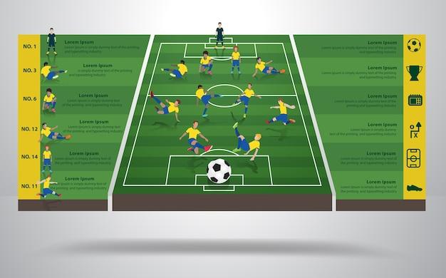 Vector brazil soccer football player