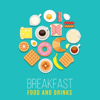 Vector breakfast concept