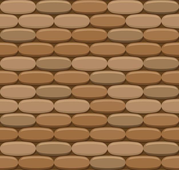 Предпосылка кирпичной стены вектора безшовная. реалистичная цветная текстура кирпича. орнамент для стиля лофт.