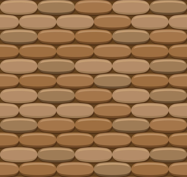 Vector brick wall seamless background. realistic color brick texture. decorative pattern for loft style.
