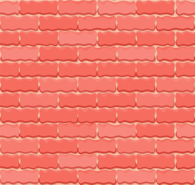 Vector brick wall seamless background. realistic color brick texture.