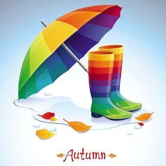 Vector bright autumn