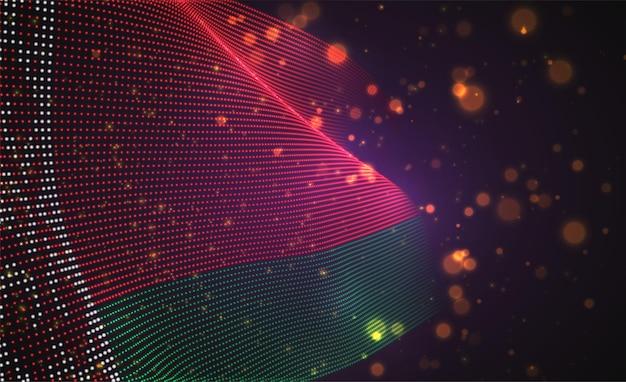 抽象的なドットのベクトル明るく輝く国旗。ベラルーシ