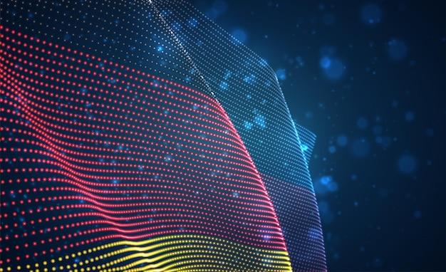 Вектор яркий светящийся флаг страны абстрактных точек. германия