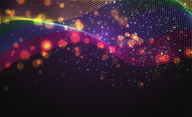 추상 점의 벡터 밝은 빛나는 국가 플래그. 무지개 lgbt