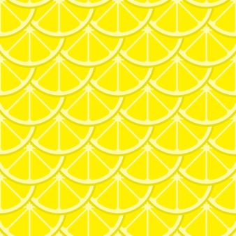Vector bright lemon slices seamless pattern