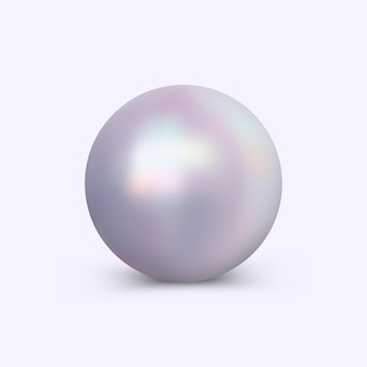 Vector bright pearl isolated