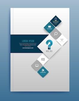 Vector brochure design template