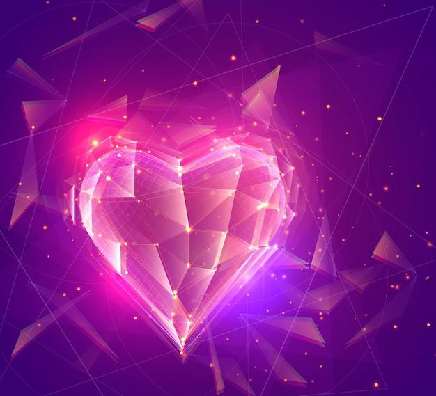 Векторный объемное сердце для медицины и праздника